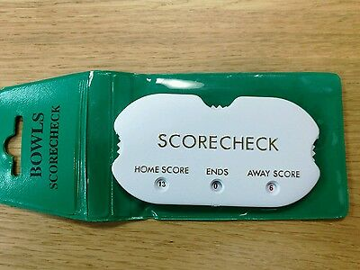 Crown Green Bowls Pocket Score Checker Hand Held
