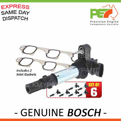 6x New * BOSCH * Ignition Coil+FREE Gasket's For Holden Commodore SV6 SVZ VZ