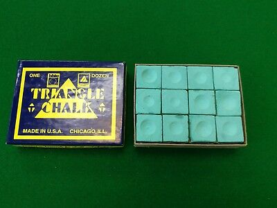 12 Blocks Green Triangle Professional Snooker Chalk Match Players