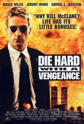 DIE HARD WITH A VENGEANCE MOVIE POSTER 2 Sided RARE ORIGINAL 27x40 JEREMY IRONS