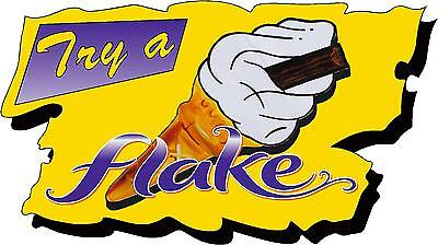 Try a Flake Sticker Large - 99 Ice Cream Van Bonnet, Door, Catering, Cafe Decal