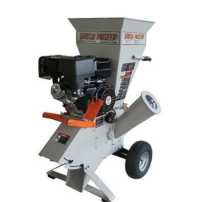 BRUSH MASTER CH9 15 HP Commercial-Duty Chipper Shredder with 120V Electric Start