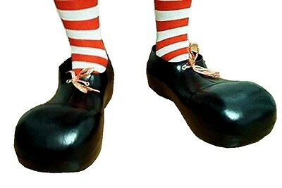 """11"""" Clown Shoes Black Adult Child Costume Accessory Halloween Party Parade Prop"""