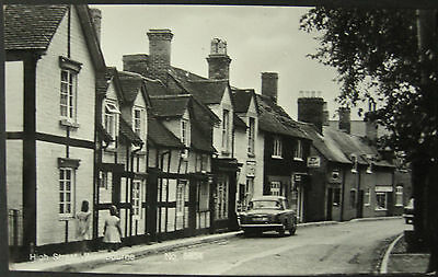 c.1960 Wombourne High Street RP Postcard Staffordshire
