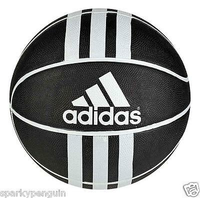 Adidas 3S Rubber X Full Size 7 Black & White Basketball - Indoor & Outdoor