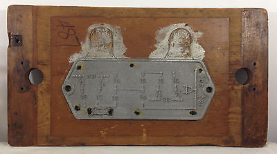 Large Steampunk Industrial ALUMINUM & WOOD Master Casting PATTERN Mold Railroad