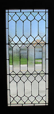 ~ ANTIQUE AMERICAN STAINED GLASS DOOR ~ 27 x 89 ~ ARCHITECTURAL SALVAGE ~