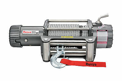 RUNVA 13.5 XF 13500lb (6136kg) with STEEL CABLE 12V RECOVERY WINCH