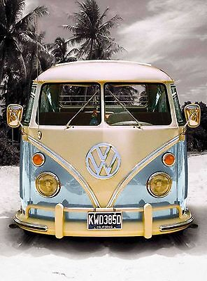 So. California Beach Cruising VW Bus United States Travel Advertisement Poster