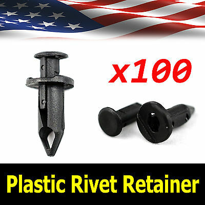 100x Car 8mm Dia Hole Plastic Rivets Fastener Auto Fender Bumper Push Pin Clips