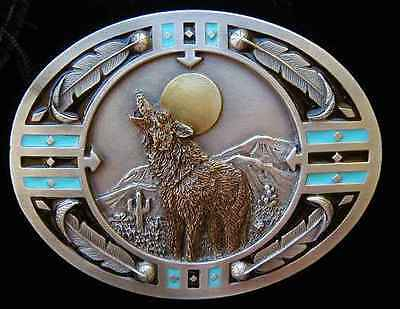 Sw Style Howling Wolf Belt Buckle Buckles New!