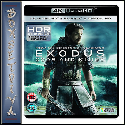 Exodus - Gods And Kings  *Brand New 4K Ultra Hd Bluray + Digital Copy *** *