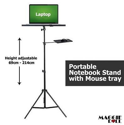 Height adjustable Laptop notebook Stand with mouse tray 69cm-214cm presentation