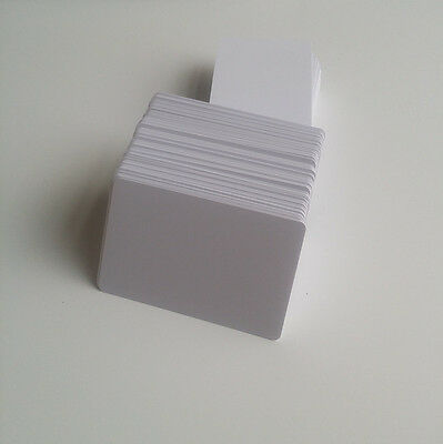 10 - Thin 20mil Inkjet PVC ID Cards - Double Sides Printable White Plastic Card