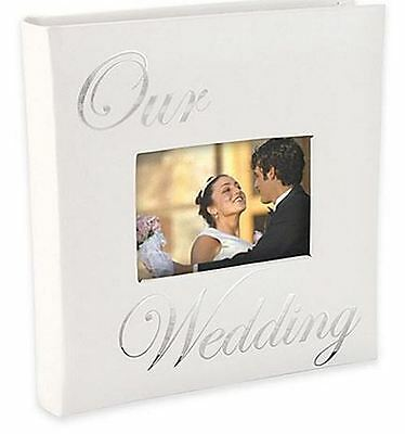 """Photo Album """"Our Wedding"""" New White 160-Pictures Hardcover Remembrance Keepsake"""