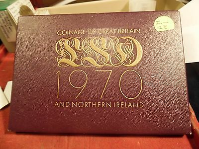 1970 Great Britain (last of the Pounds Sterling) Proof Set with Spotless Copper