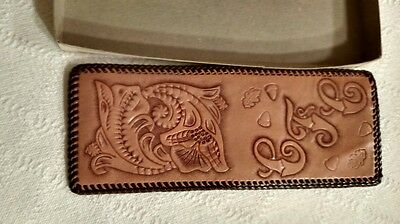 Vintage Hand Tooled Leather  Wallet Never Used