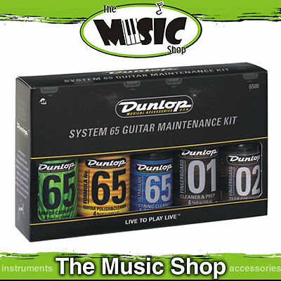 Jim Dunlop System 65 Guitar Maintenance Kit  - J6500 Guitar Care Cleaning Pack