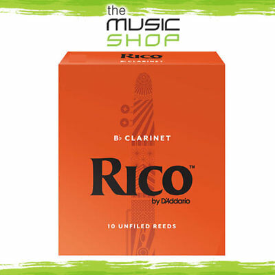 Rico 1 1/2 Strength Bb Clarinet Reeds - Box of 10 - New The Music Shop - Reed