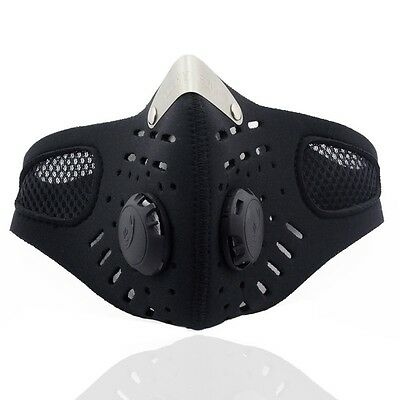 Motorcycle Ski Face Mask Mouth-muffle Dustproof With Activated Carbon Filter