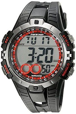 Timex Ironman Mens Quartz Watch W/ Lcd Dial Digital Display & Black Resin Strap