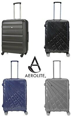 Aerolite Premium Quality Hard Plastic Shell Spinner Suitcase Lightweight Luggage