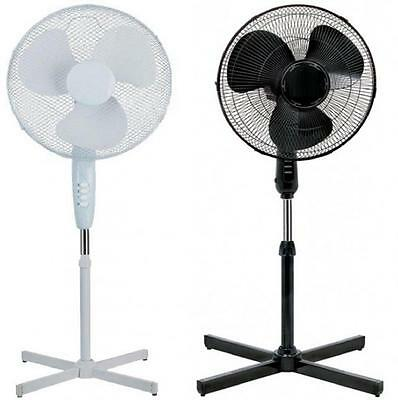 """Electric 16"""" Oscillating Extendable Free Standing Tower Pedestal Cooling Air Fan"""