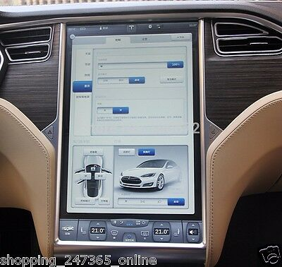 "Tesla Model S Interior Touch Screen IOS Android Monitor Protector X 2 17"" Smart"