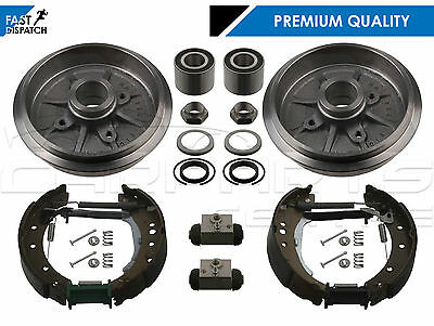 For Peugeot 206 1.1 1.4 Rear Brake Drums Shoes Fitting Wheel Cylinders Bearings