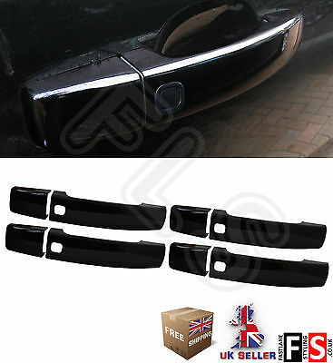 Keyless Door Handle Covers - Gloss Black -For Use On Range Rover Sport '10 - '13