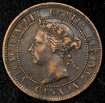 1901 Canada Large Cent 1C Queen Victoria Key Date Better Grade
