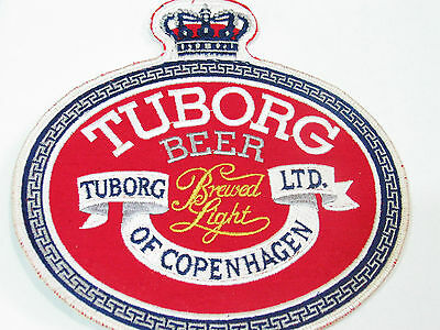 Tuborg Beer Toborg LTD Of Copenhagen Beer XL Jacket Patch (Lg Bin)