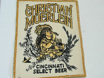 "Vintage Christian Moerlein Cincinnati Select Beer Patch , (lg 6"" patch)"