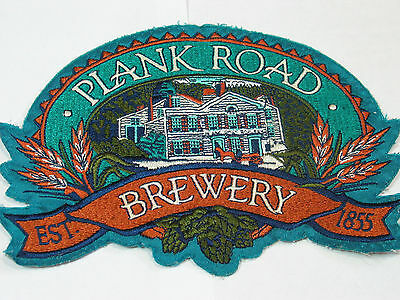 "Plank Road Brewery Patch ,  Lg 10""  Jacket Patch"