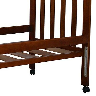 Childcare Accessory Cot Bed Rails (Walnut)