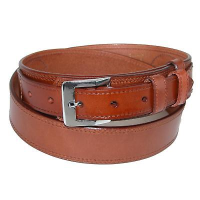 New CTM Men's Leather Removable Buckle Ranger Belt