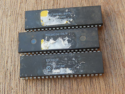 Lot Of 3 Pic16C64    Integrated Circuit Chip Cf2-12