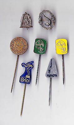 JOB LOT COLLECTION Vintage SWIM SWIMMING pin badges 1960s KNZB Federation