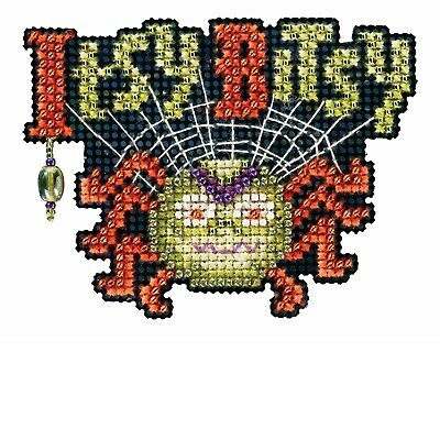 10/% Off Mill Hill-Autumn Harvest Collection X-stitch//Bead Kit-Itsy Bitsy Spider