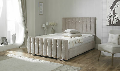 Diana Upholstered Fabric Bed Frame storage 3' Single 4'6 Double 5' King size