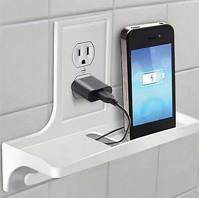 Wall Outlet Organizer Storage for your Home Office Bathroom Charging Station