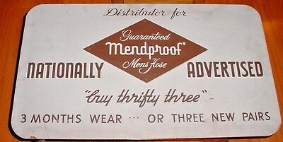 Original Masonite Sign-MENDPROOF Mens Hose-Painted-Advertising