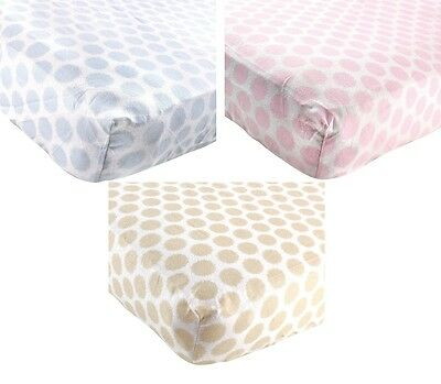 "Luvable Friends Fitted Flannel Crib Sheet 28"" X 52"" Boys Girls Neutral New"