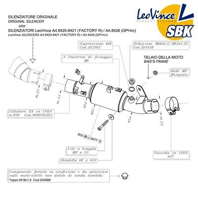 Kawasaki Zx10R 2011>15 Leovince Decat Exhaust Eliminate Catalyst *promo*in Stock