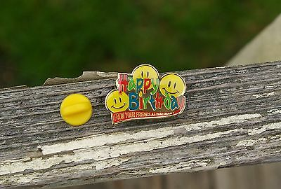 Happy Birthday From Your Friends at Wal-Mart Metal Enamel Employee Pin Pinback