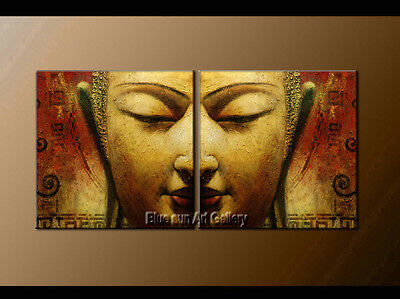 Large MODERN Buddha ABSTRACT OIL PAINTING Canvas Contemporary Wall Art Framed 68