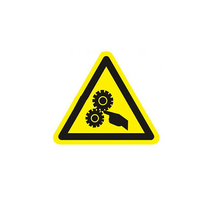 Industrial Safety Decal Sticker caution ROTATING PARTS - HAND warning label new