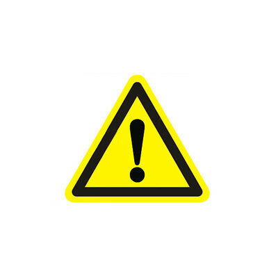 Industrial Safety Decal Sticker caution GENERAL WARNING label new