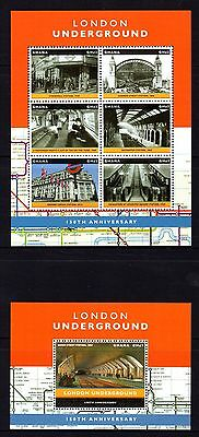 Ghana 2013 London Underground Sheetlet 6 + M/S MNH