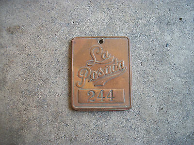 vintage La Posada Hotel Key fob tag Fred Harvey Winslow Arizona AZ Route 66